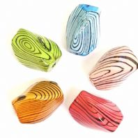 20 Mixed Acrylic imitated Wooden Beads 20x15mm